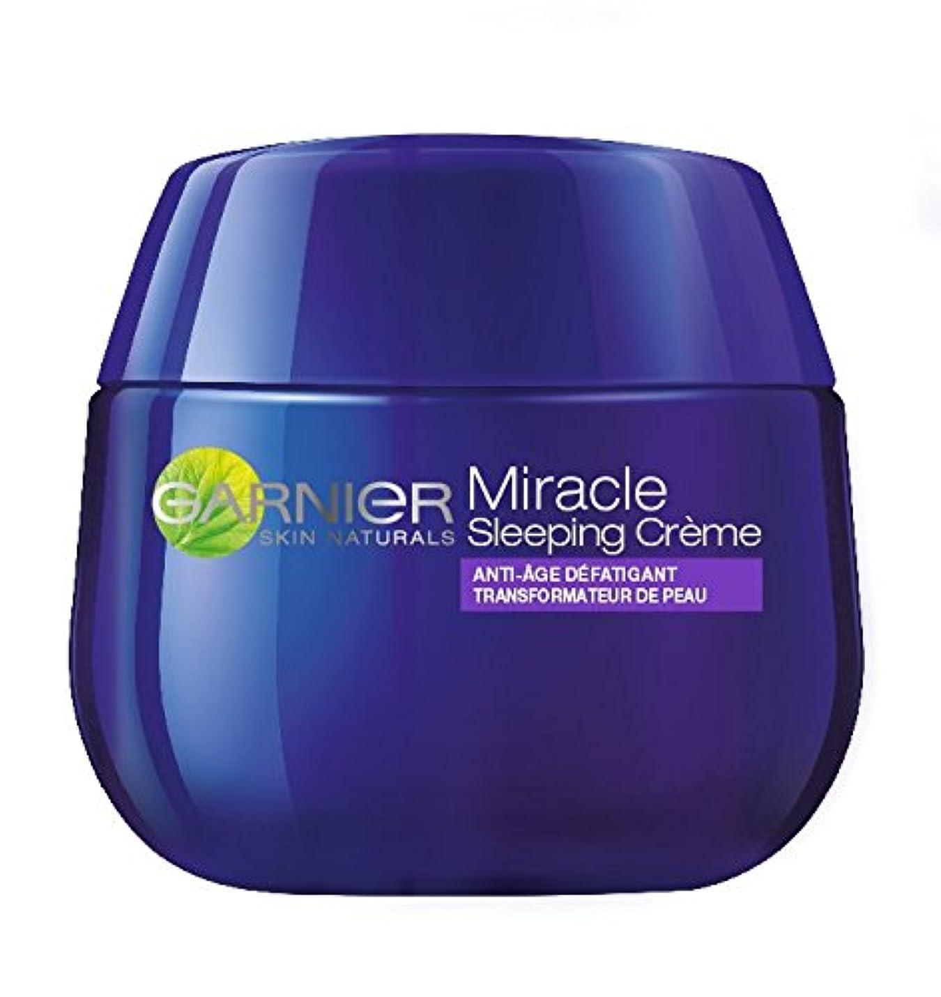 妻ペパーミント邪魔Garnier Skin Active Miracle Sleeping Crème Nuit 50 ml