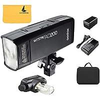 Godox AD200 ポケット TTL スピードライト フラッシュ ポータブル ミニ 2個ライトヘッド&クリニングクロス付き GN52 GN60 1 / 8000s HSS 2.4Gワイヤレス Xシステム 200W強力パワー Nikon Sony Canon EOSカメラ用 (Godox AD200)