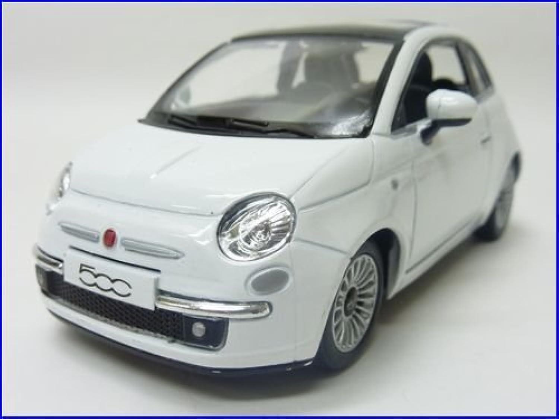KiNSMART◇2007NEWフィアットFIAT500◇1/28ミニカー/ホワイト