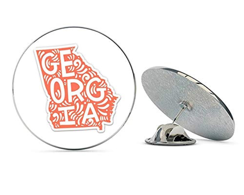 NYC Jewelers ジョージアの形のかわいい文字 ネイティブな地元の金属 0.75インチ ラペルハットピン タイタック ピンバック