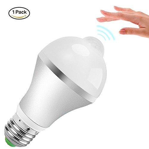 Minger LED電球 9W 口金E26/E27 昼白色 赤外線人感センサー付き 自動点灯/消灯 広配光タイプ 730lm 省エネ 長寿命 アルミ製