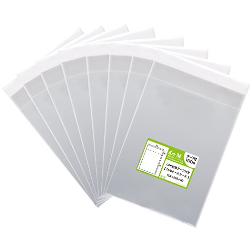 [해외]국산 테이프 부착 DVD 톨 케이스 용 투명 OPP 봉투 (투명 봉투) 800 매 30 미크론 두께 (표준) 153x205 + 40mm/Transparent OPP bag for DVD tall case with domestic tape (transparent envelope) 800 sheets 30 micron thickness (standard) 153 x...