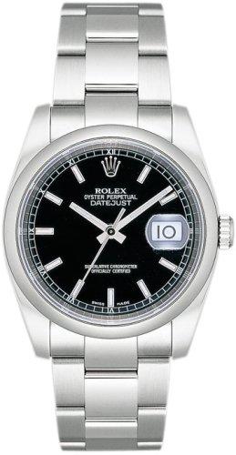 [ロレックス] ROLEX 腕時計 デイトジャスト 116200 ブラック バー メンズ [並行輸入品]