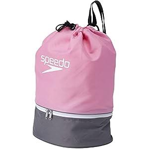 Speedo(スピード) プールバッグ プールバッグ スイムバッグ SD95B04 ピンク×グレイ(PG)