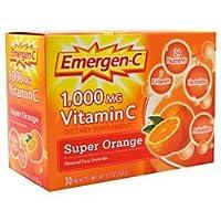 Emergen-C Vitamin C Flavored Fizzy Drink Mix Packets, Super Orange, 9.3 Ounce