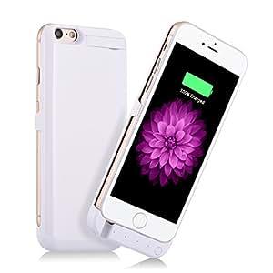 iSHAKO ウルトラスリムバッテリーケース iPhone 6 / 6s 4.7インチ用 容量 3000mAh130% バッテリー (ホワイト)