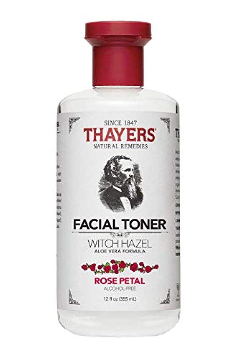 劇作家密豊かなThayers? Rose Petal Witch Hazel Alcohol Free Toner with Organic Aloe Vera 355ml