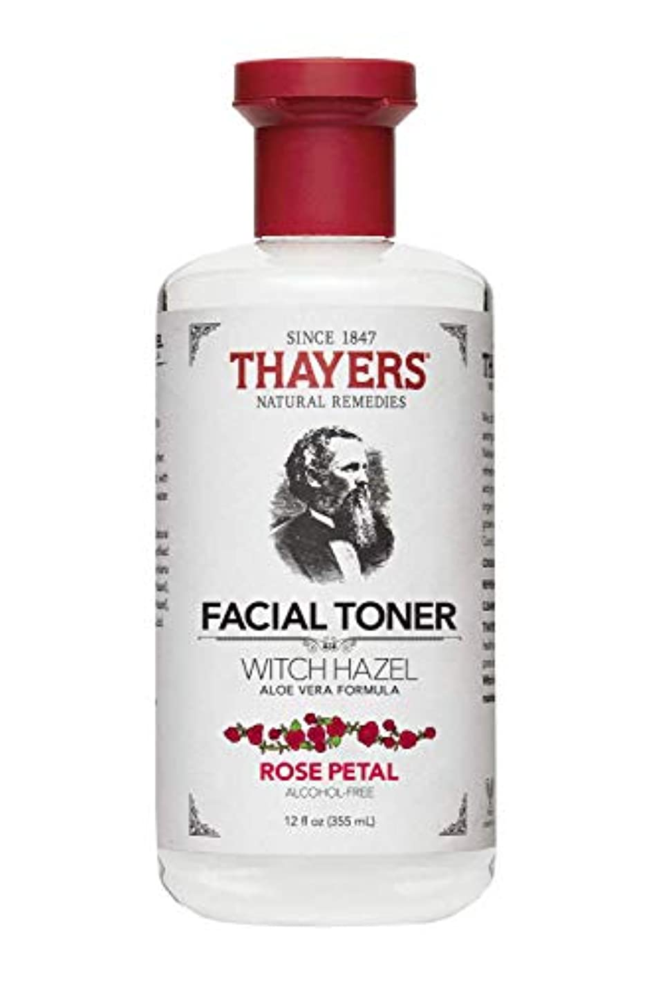 平らな懐疑論休暇Thayers? Rose Petal Witch Hazel Alcohol Free Toner with Organic Aloe Vera 355ml