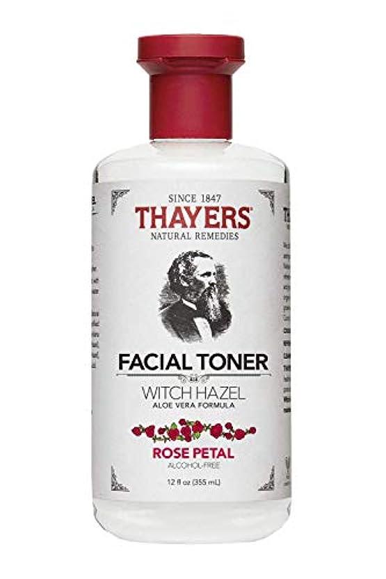 食堂阻害する不快なThayers? Rose Petal Witch Hazel Alcohol Free Toner with Organic Aloe Vera 355ml