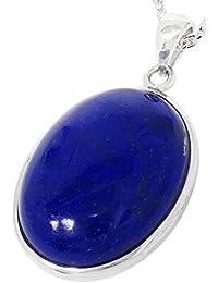 新宿銀の蔵 ラピスラズリ オーバル シルバー 925 ネックレス (大) レディース メンズ 12月 誕生石 天然石 シンプル ペンダント