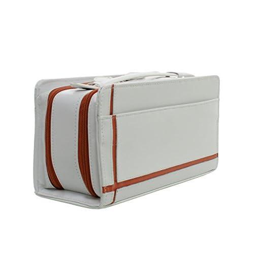 United HOMME ユナイテッドオム セカンドバッグ メンズ 馬革 クロスライン ダブルファスナー ホワイト×オレンジ 【UH-2175WH】