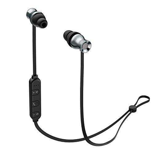 AUKEY Bluetoothイヤホン ワイヤレスイヤホン マグネット式 スポッツ仕様 iPhone、Androind スマートフォンに対応 EP-B37