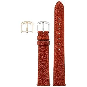 [クレファー]CREPHA 時計ベルト 16mm 革 ピッグ 抗菌 防臭仕上 尾錠 工具付き ブラウン 17-16