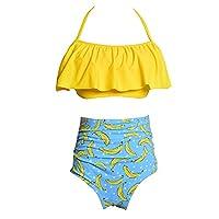 フリルビキニ水着は女性をプッシュアップハイウエスト水着水着女性は大きなサイズBK50014