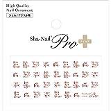 写ネイル ネイルシール Sha-NailPlus Script Font Pink Gold SC-PPG
