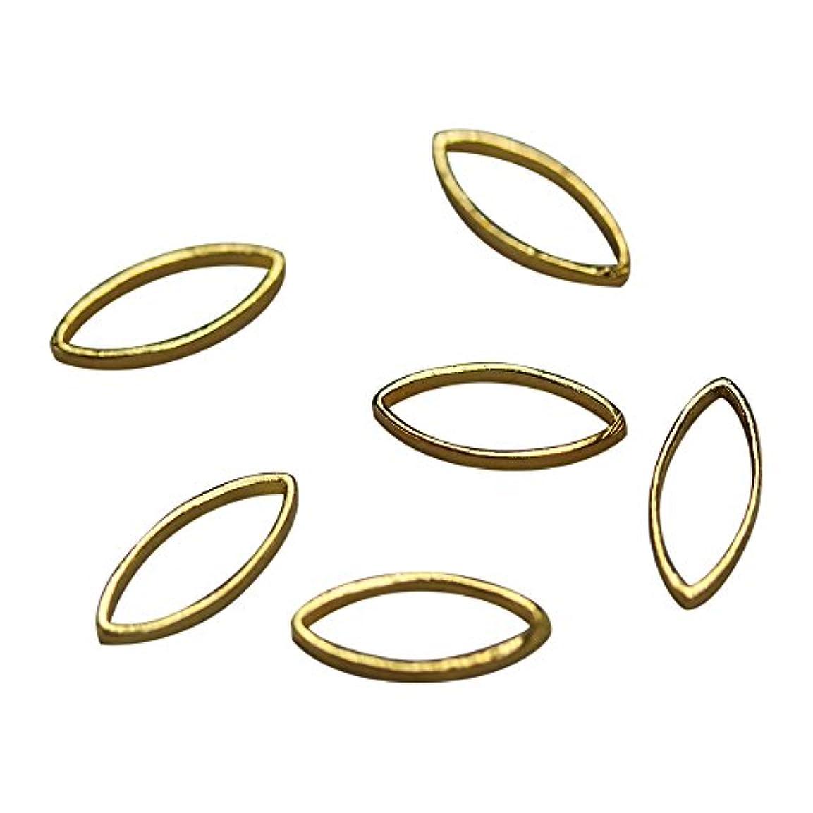 ペダルタンカー経済Bonnail×RieNofuji Loop leaf M ゴールド