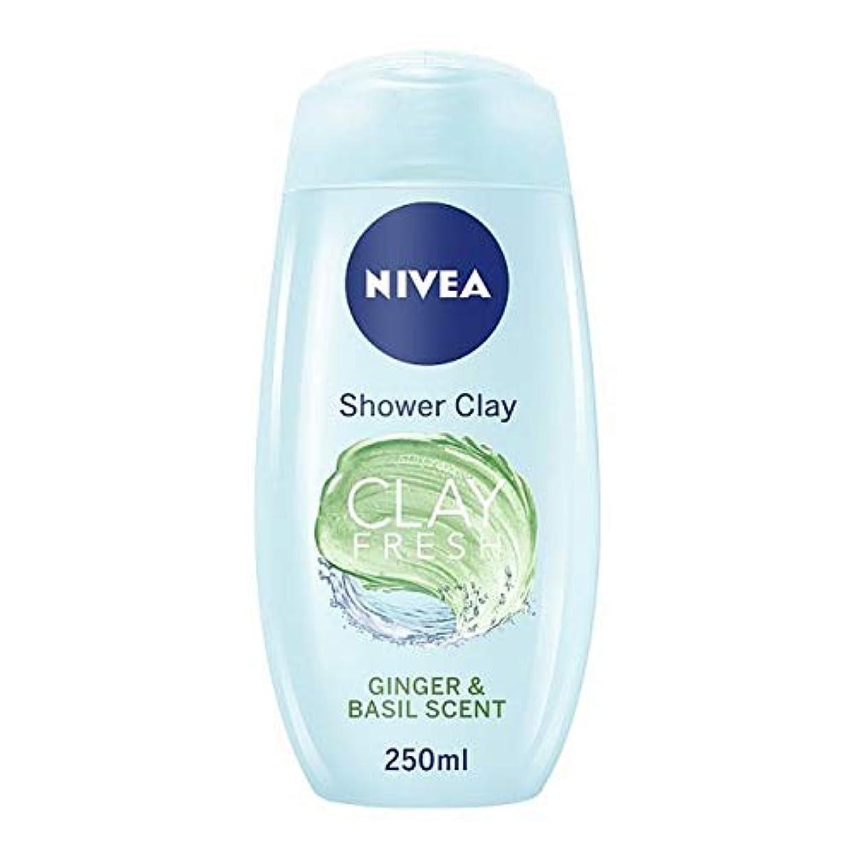 章化学薬品一生[Nivea ] Gng&Bas 250ミリリットルとニベアシャワー粘土 - NIVEA SHOWER CLAY WITH GNG&BAS 250ML [並行輸入品]