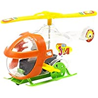 OVERMALおもちゃ子供教育おもちゃ透明Mini Wind - Up Windingヘリコプターおもちゃ