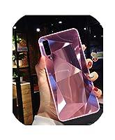 3DダイヤモンドプリズムホログラフィックレーザーケースサムスンA10 A20 A30 A50 A70 A90 M20 A7 A9 2018 S10プラス注10ソフトエッジ電話ケース用、サムスンA70 3