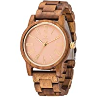 Women Wood Watch,MUJUZE Luxury Style Slim Lightweight 40mm Women Men Fashion Wooden Watch Gift Box(Acacia)
