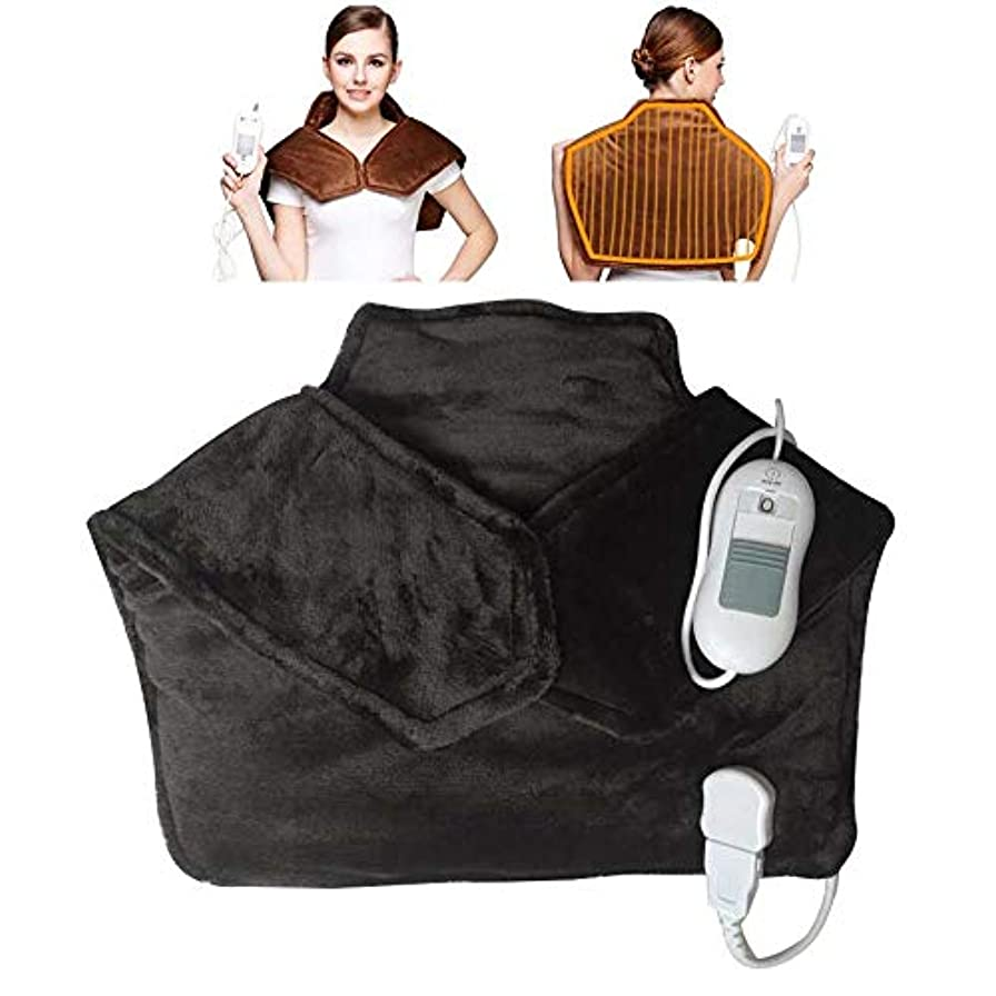 スイス人植物学者蓄積する電気暖房ショルダーネック熱灸子宮頸肩保護ウエストバック暖かいマッサージのフィールド,黒