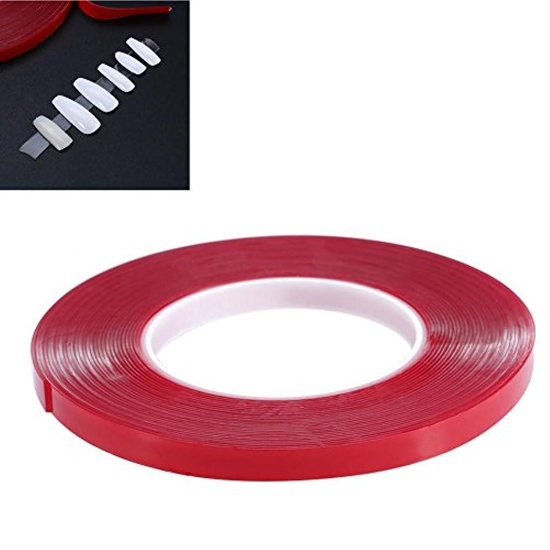 滑る大きさスカートネイルラインテープ ネイルアート用 両面粘着テープ 透明 強い ネイル用品 長さ10m