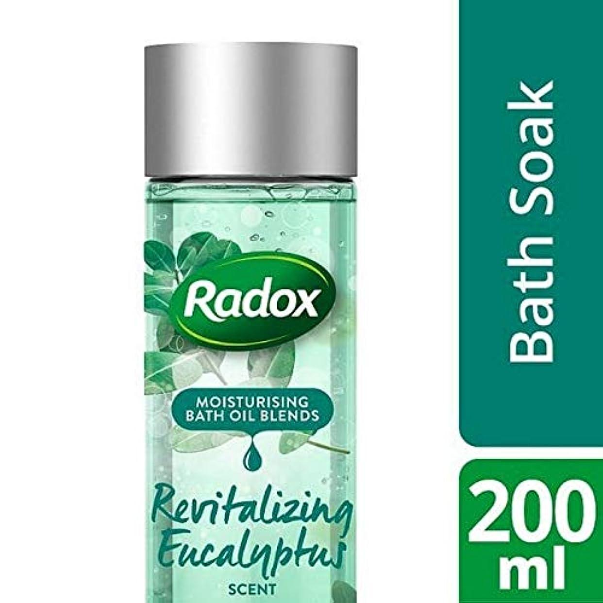 払い戻し記憶聞く[Radox] ユーカリの香り200ミリリットルを活性化Radoxのバスオイル - Radox Bath Oil Revitalizing Eucalyptus Scent 200ml [並行輸入品]