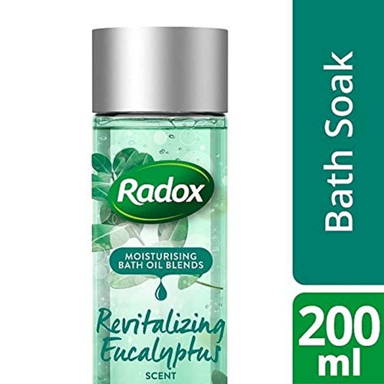 記念碑的な作成者データム[Radox] ユーカリの香り200ミリリットルを活性化Radoxのバスオイル - Radox Bath Oil Revitalizing Eucalyptus Scent 200ml [並行輸入品]
