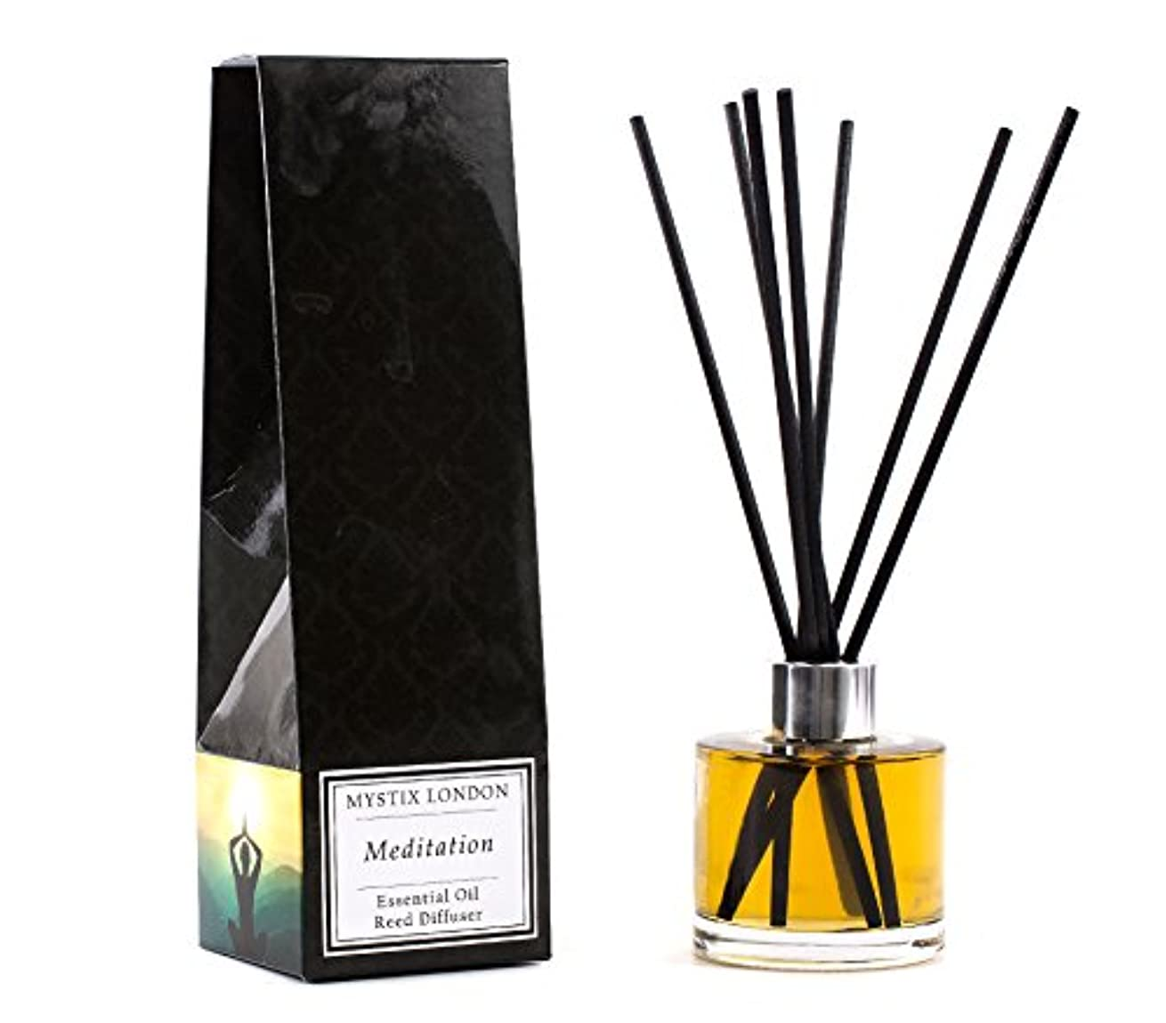方向オーバードロー失敗Mystix London | Meditation - Essential Oil Reed Diffuser - 100ml