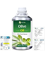 Olive (Olea europea) Natural Pure Undiluted Uncut Carrier Oil 5000ml/169 fl.oz.