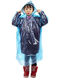 レインコート 使い捨て 子供 携帯用 レインウェア ポンチョ型 10枚セット 通園 通学 アウトドア スポーツ観戦 雨具 脱着簡単 軽い 便利グッズ 雨ガッパ ポンチョ ジュニア キッズ 女の子 男の子 シンプル 可愛い