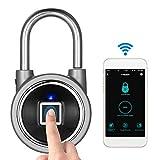 タッチロック 指紋ロック スマート キー 防水 APPボタン/指紋/パスワード アンロック Android&iOS対応 盗難防止 戸口/ドア/荷物ケースロック-Decdeal