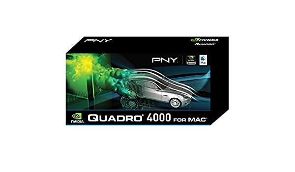VCQ4000MAC-PB CUDA and OpenCL Profesional Graphics Board NVIDIA Quadro 4000 for Mac by PNY 2GB GDDR5 PCI Express Gen 2 x16 DVI-I DL DirectX DisplayPort and Stereo OpenGL Boot Camp