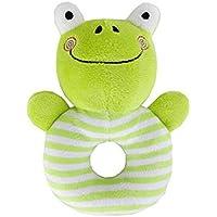 aiweasi Lovelyかわいい赤ちゃんおもちゃ1pcベビー子供クリエイティブソフトPlush Rattle手おもちゃ教育玩具( Frog )