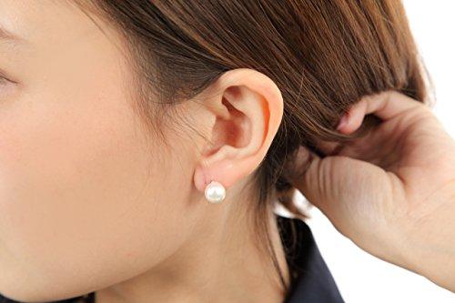 パールイヤリング 花珠貝パール ホワイト8ミリ珠 一粒 イヤリング 真珠イヤリング