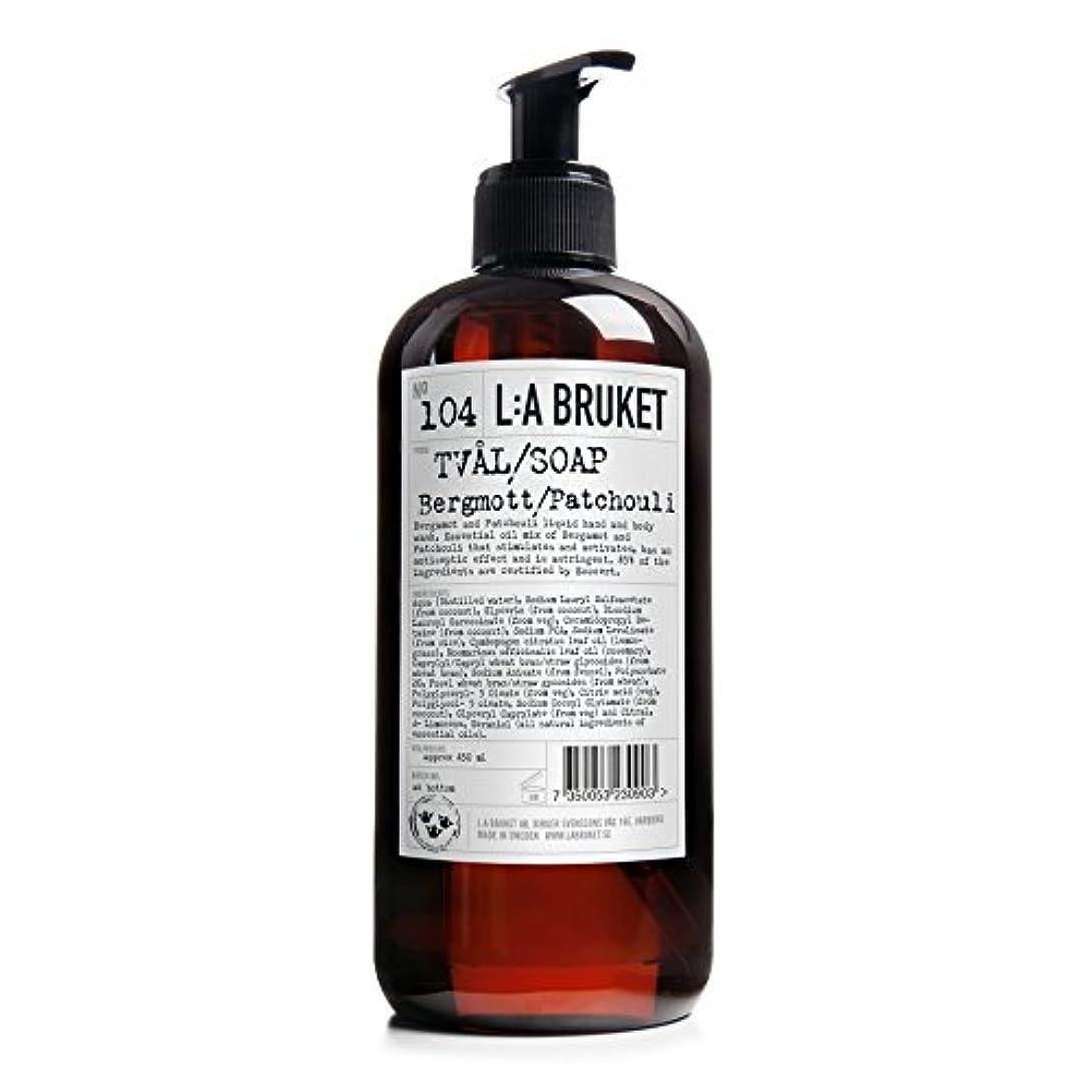 廊下乱用明らかにするL:A Bruket Bruket Bergamot and Patchouli Liquid Soap 450ml - :のベルガモット及びパチョリ液体石鹸450ミリリットル [並行輸入品]