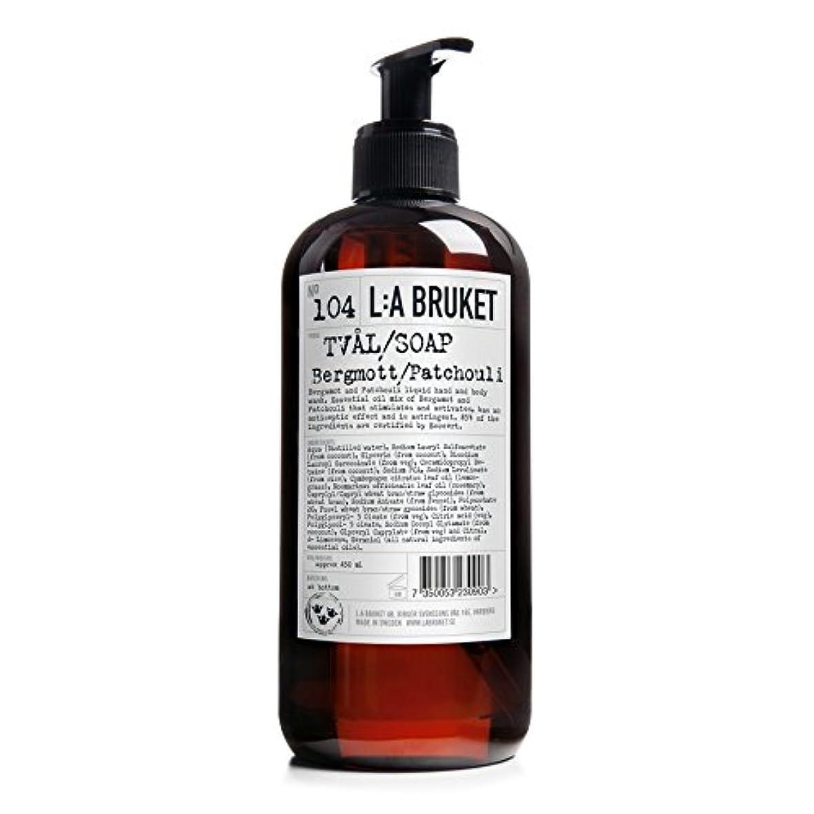 鎮痛剤ギャンブル暗くするL:A Bruket Bruket Bergamot and Patchouli Liquid Soap 450ml - :のベルガモット及びパチョリ液体石鹸450ミリリットル [並行輸入品]