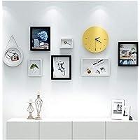 ETH 装飾画リビングルームの絵画ソファーの背景壁画シンプルモダン北欧壁画無料組み合わせ8ピース壁時計クリエイティブフォトフレーム ハロウィンカーニバル