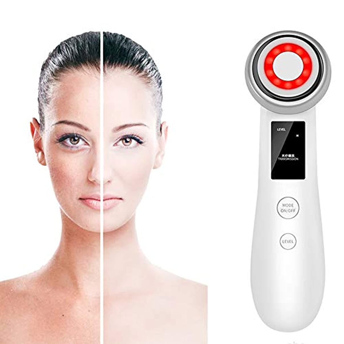 静かなサルベージ寸前皮膚は顔のリフティング用LEDレッドライト、スキンファーミング、皮膚の調色、ディープクレンジング、注入、マッサージでリラックスして美容機器を締め