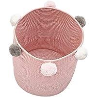 B Baosity 折り畳み式 洗濯袋 衣類 収納 バスケット キッズ おもちゃ バスケット オーガナイザー 全3色 - ピンク