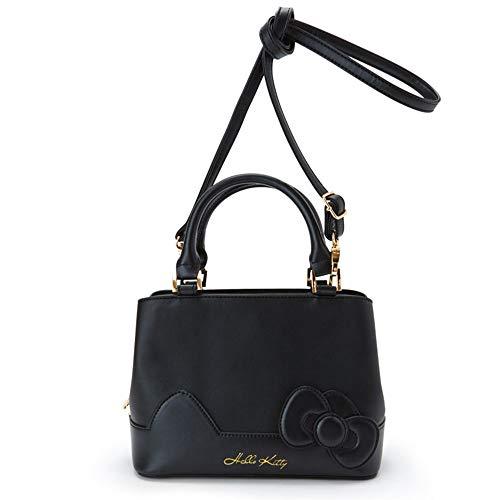 5e13370012 Hello Kitty 2WAY mini Tote Shoulder Bag Black Sanrio 4901610953679 ...