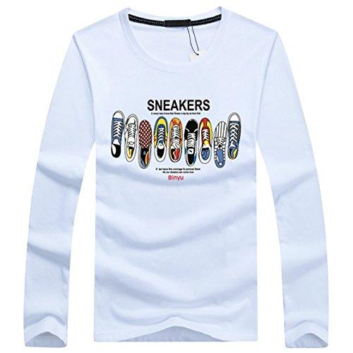 CHROME CRANE(クロム クレイン) メンズ 長袖 シューズ 柄 プリント Tシャツ 靴 スニーカー デザイン シャツ LPT006