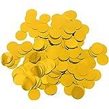 Perfeclan 約30g 紙吹雪 丸い キラキラ コンフェッティ 多色選べ  - ゴールド