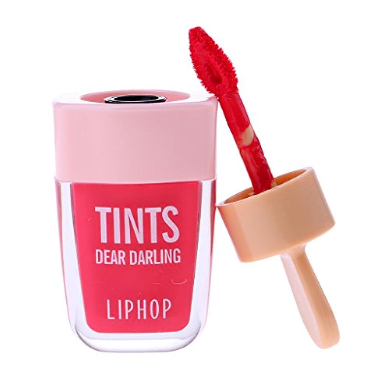 宿題組み合わせる無声でリップグロス 口紅 長持ち 防水 マット メイクアップ 唇メイク カラーメイク 6色選べる - ピーチピンク