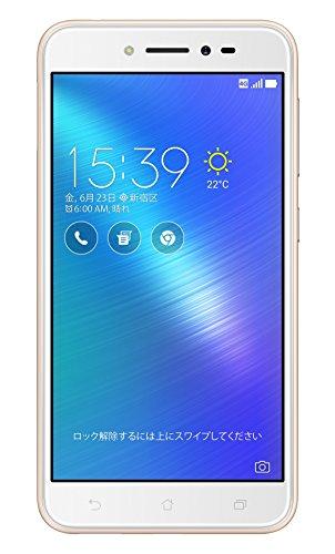 ASUS ZenFone3 Live SIMフリースマートフォン (ゴールド 5インチ)【日本正規代理店品】(クアッドコアCPU/2GB/16GB/5型/3,650mAh) ZB501KL-GD16/A