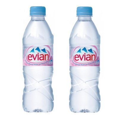 [2cs]伊藤園 Evian(エビアン) ミネラルウォーター 500ml×24本×2ケース