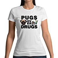 Pugs Over Drugs - Womens T-Shirt - 13 Colours