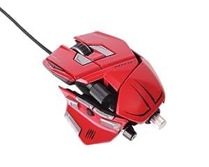 [Win8/Mac 対応] Mad Catz M.M.O. 7 ゲーミングマウス レッド ウェッジシェイプデザイン 6400dpiレーザー 最大90のゲーミング機能を即座に実行 長さ、幅、高さ、重さを手の大きさや好みに合わせて変えられるトランスフォームメカ搭載 (MC-MMO7R)