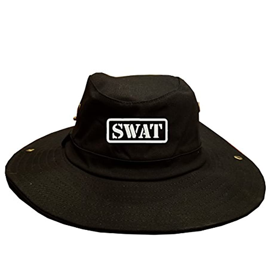 イル知る最も遠いSWAT Special Weapons and Tactics 100 % Cotton Military Boonie Hatブラック