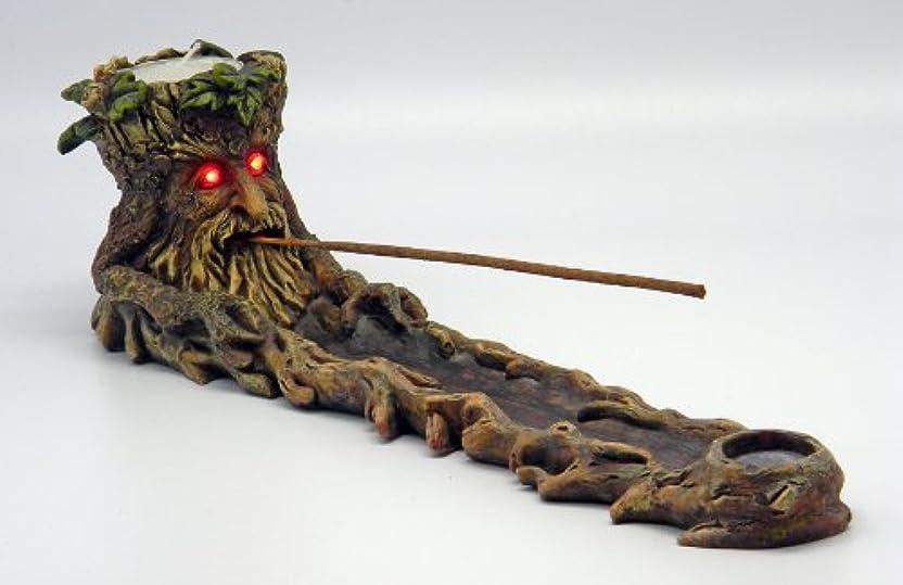電卓埋め込む入浴Green Man Incense Burner LED Eyes